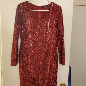 Dresses & Skirts - Sexy red sequin dress